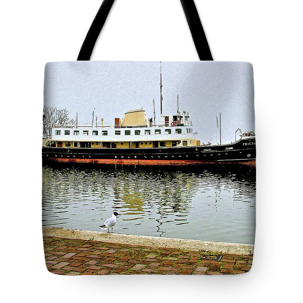 The Friesland In Enkhuizen Harbor Tote Bag featuring the photograph The Friesland In Enkhuizen Harbor-netherlands by Ruth Hager