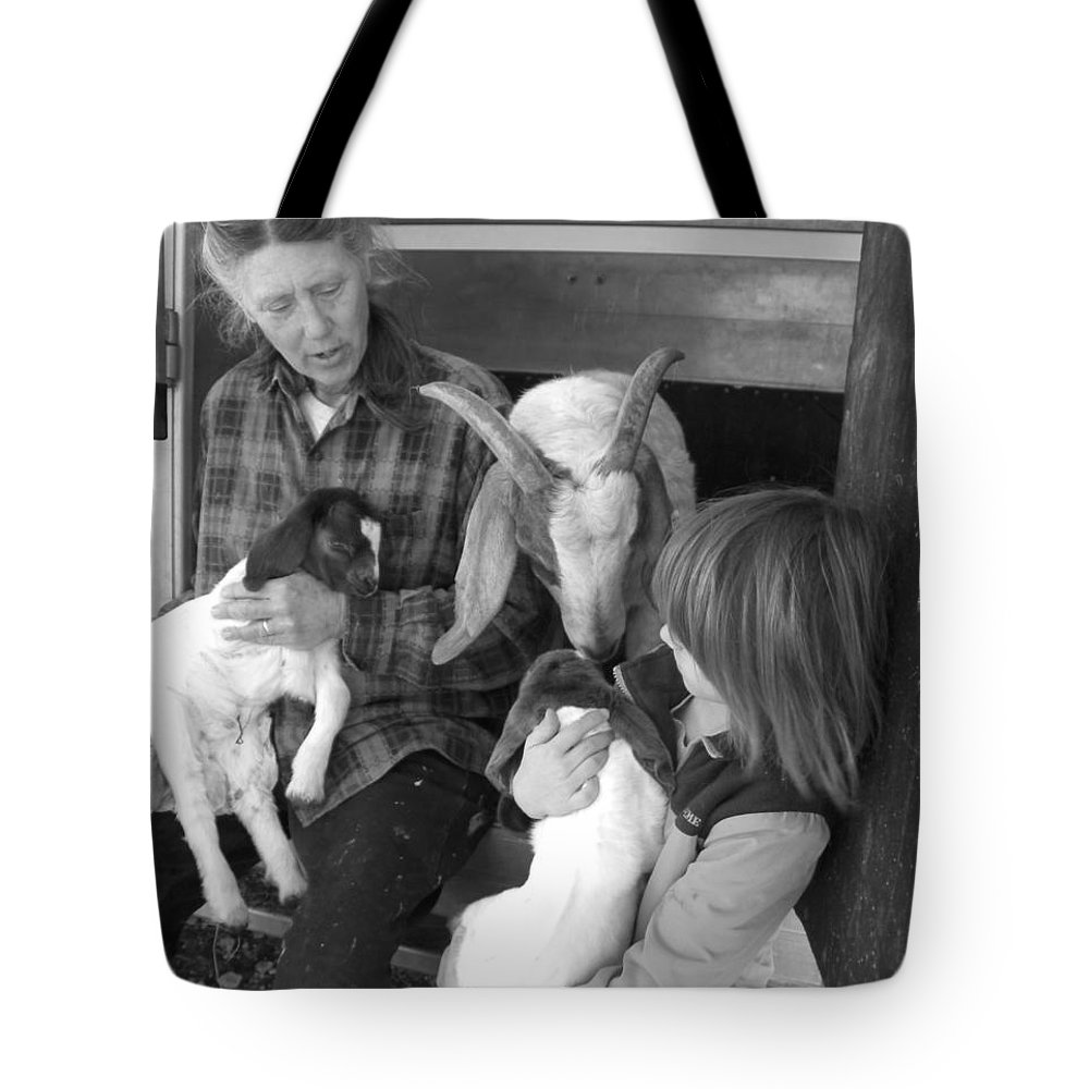 Kid Tote Bag featuring the photograph The Future Of Farming by Sheri Lauren