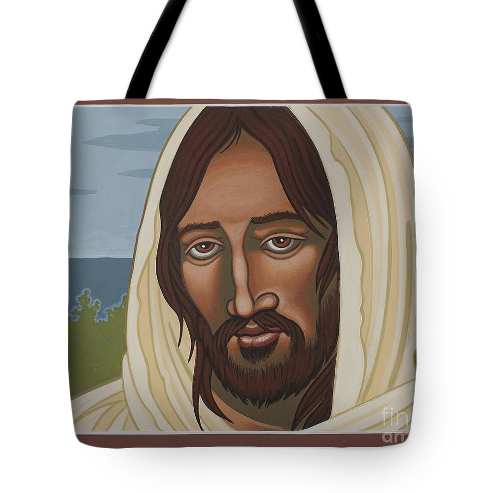 Jesus Tote Bag featuring the painting The Galilean Jesus 266 by William Hart McNichols