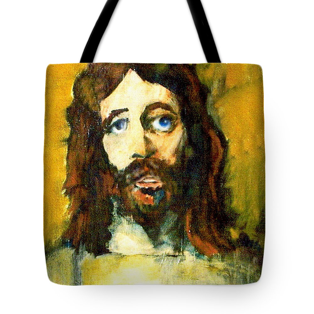 Jesus Christ Tote Bag featuring the painting The Galilean by Seth Weaver
