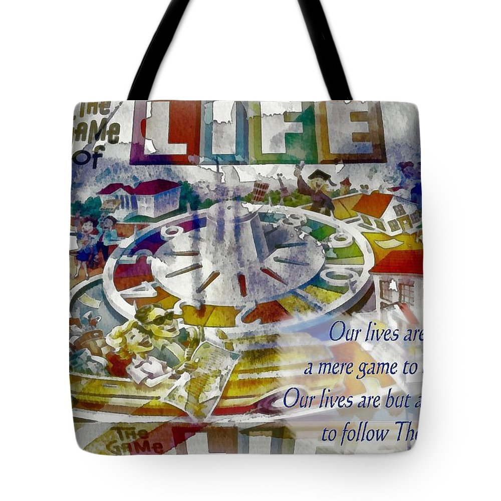 Jesus Tote Bag featuring the digital art The Game Of Life by Michelle Greene Wheeler