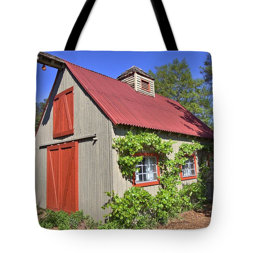 8295 Tote Bag featuring the photograph The Garden Barn by Gordon Elwell