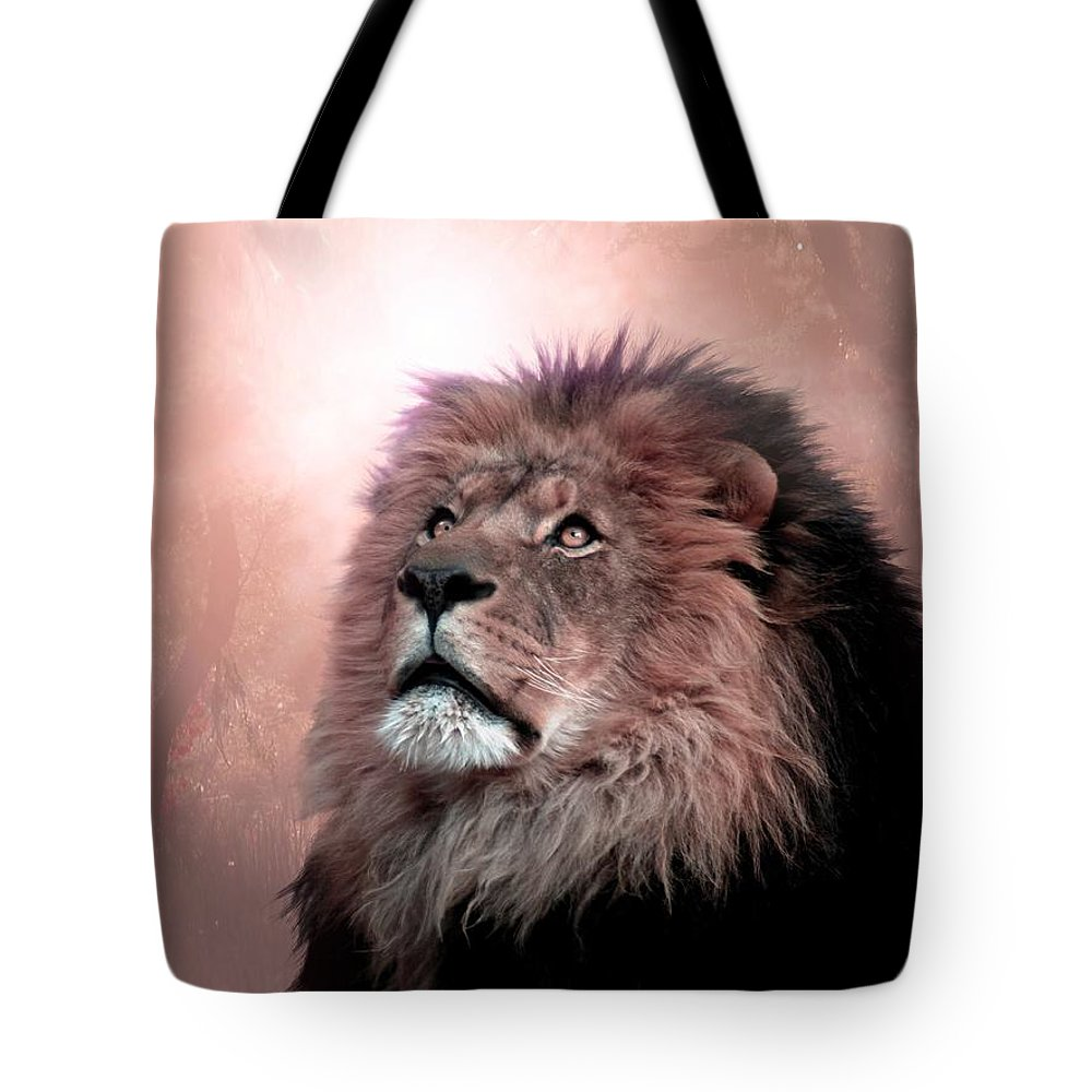 Lion Tote Bag featuring the digital art The Garden by Bill Stephens