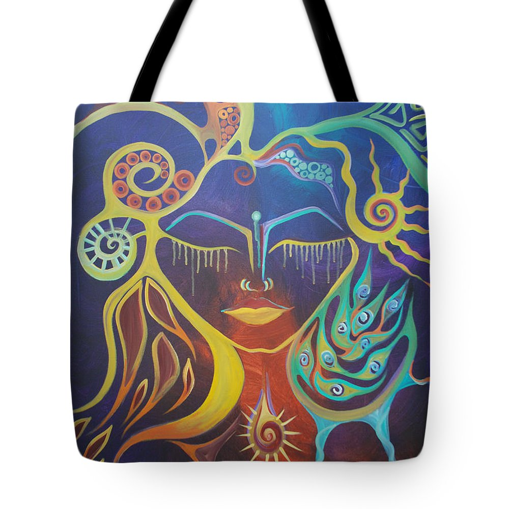 Woman Tote Bag featuring the painting The Gem by Michelle Oravitz