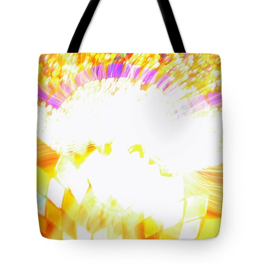 Shapes Tote Bag featuring the photograph The Genie Leaves The Lamp by Ric Bascobert