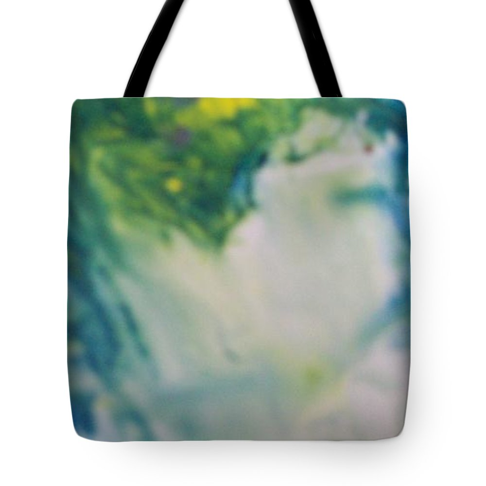Tote Bag featuring the painting Ghost Of Puff Dragon by Sharon Ackley