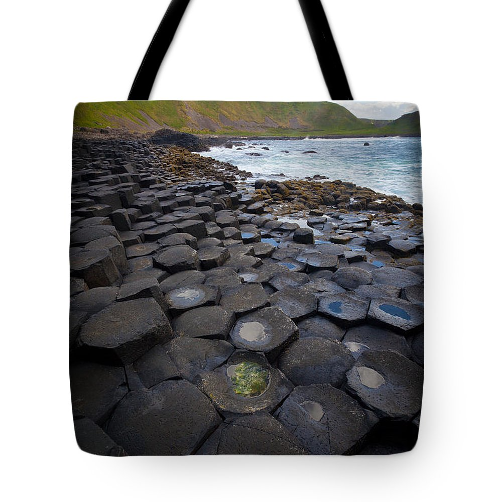Europe Tote Bag featuring the photograph The Giant's Causeway - Staircase by Inge Johnsson
