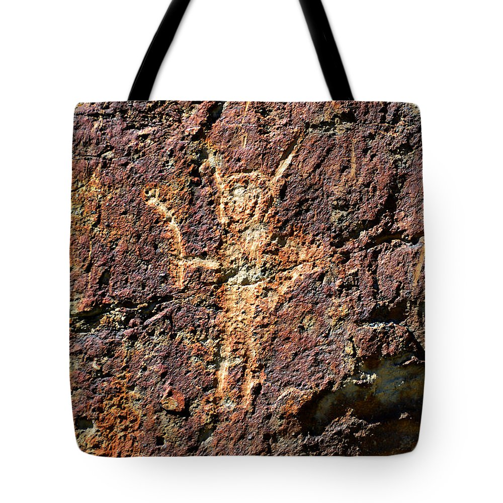 Rock Art Tote Bag featuring the photograph The Gift by David Lee Thompson