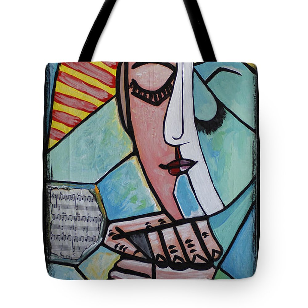 Sunshine Tote Bag featuring the painting The Gift by Kip Krause