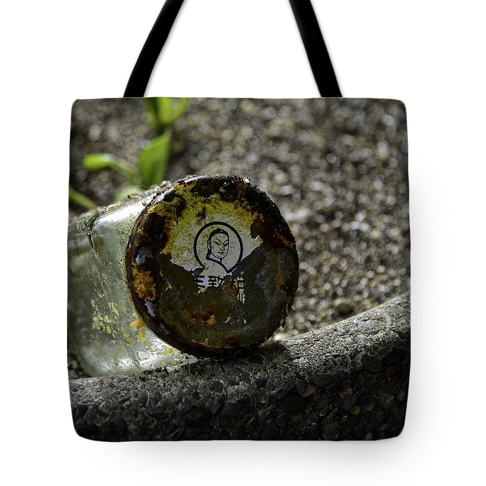 Yachats Tote Bag featuring the photograph The Glass Jar From The Tsunami by Image Takers Photography LLC - Carol Haddon