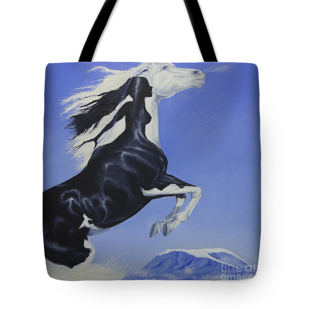 Paint Tote Bag featuring the painting The Goddess Within by Louise Green
