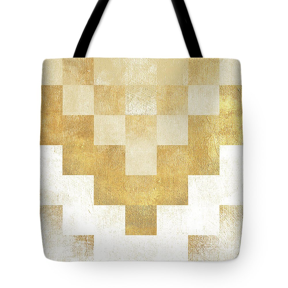 The Tote Bag featuring the mixed media The Golden Path by Hugo Edwins