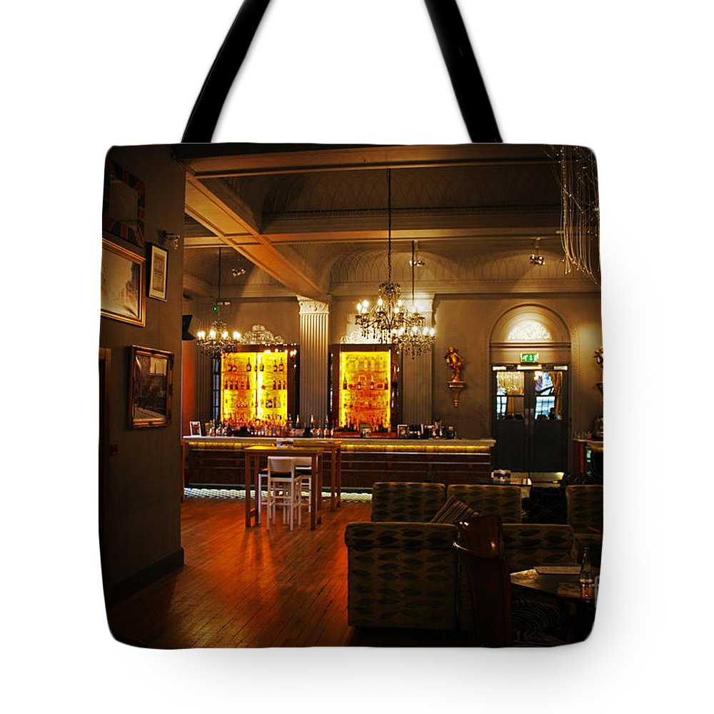 Grand Cafe Tote Bag featuring the photograph The Grand Cafe Southampton by Terri Waters