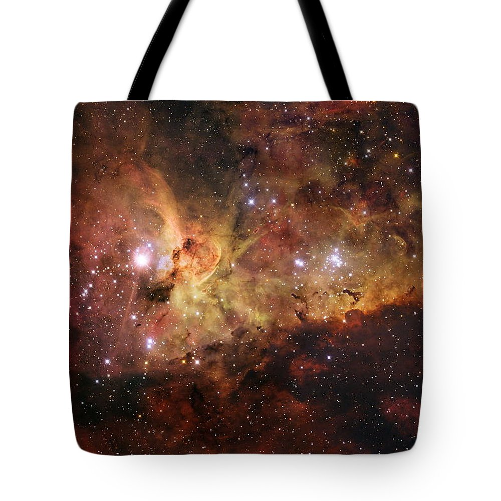 Space Tote Bag featuring the photograph The Great Nebula In Carina by Nasa