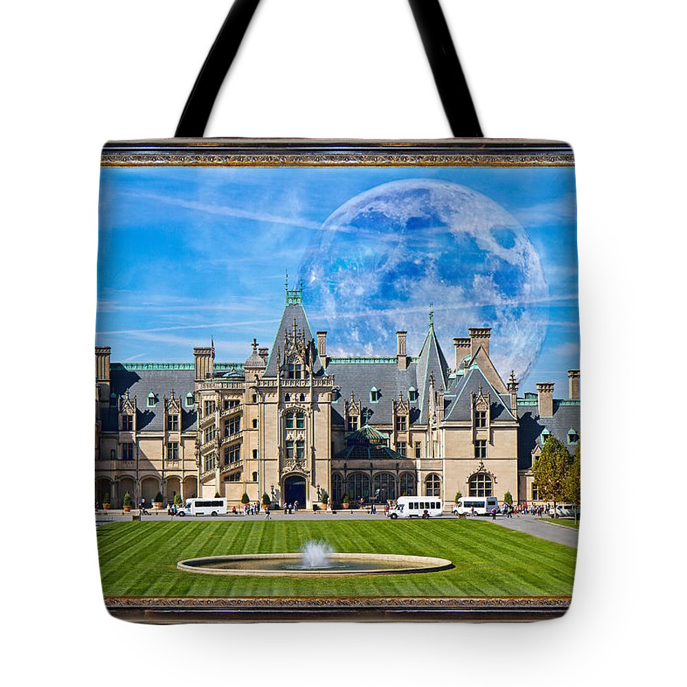 Biltmore Tote Bag featuring the mixed media The Grand Vision by Betsy Knapp