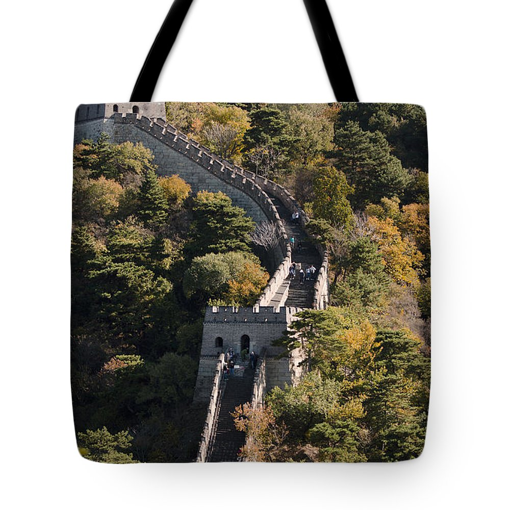 China Landscape Tote Bag featuring the photograph The Great Wall 629 by Terri Winkler
