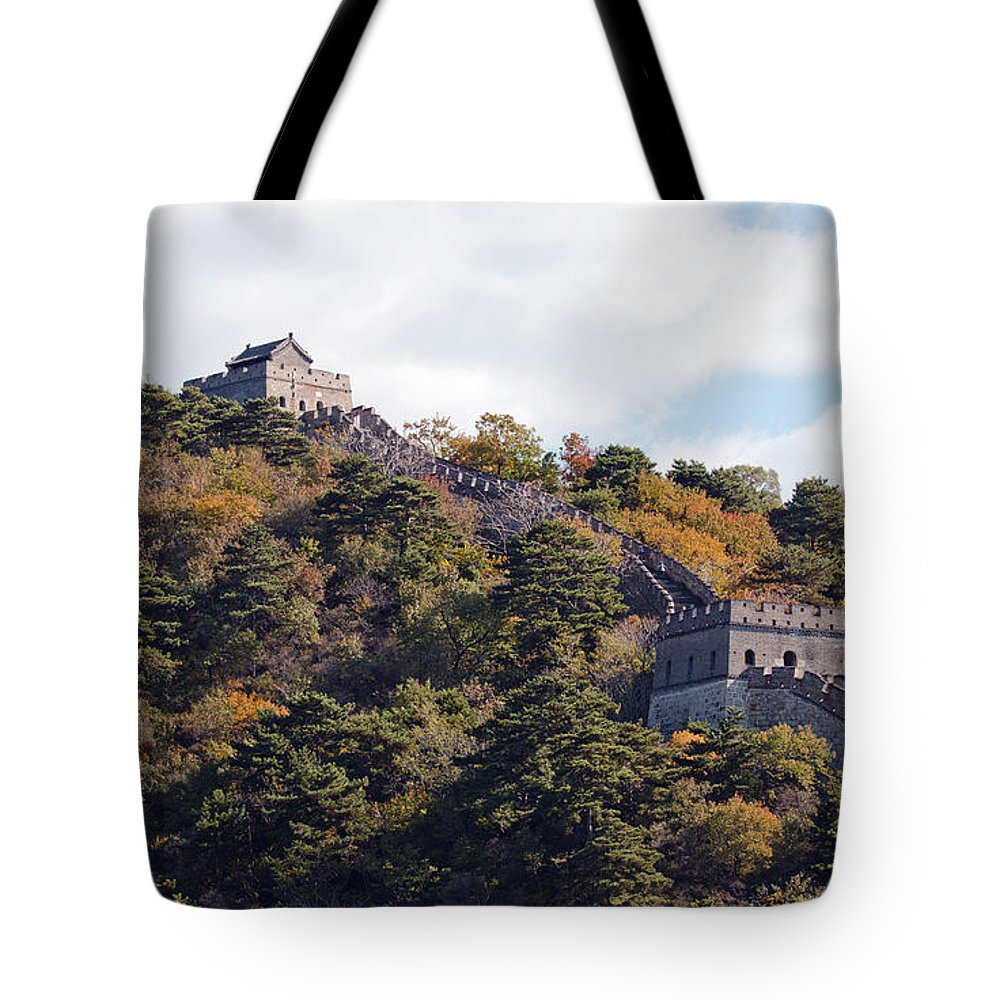 China Landscape Tote Bag featuring the photograph The Great Wall 632c by Terri Winkler
