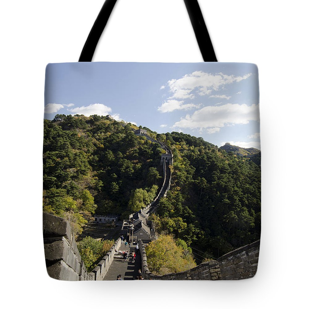 China Landscape Tote Bag featuring the photograph The Great Wall 649 by Terri Winkler