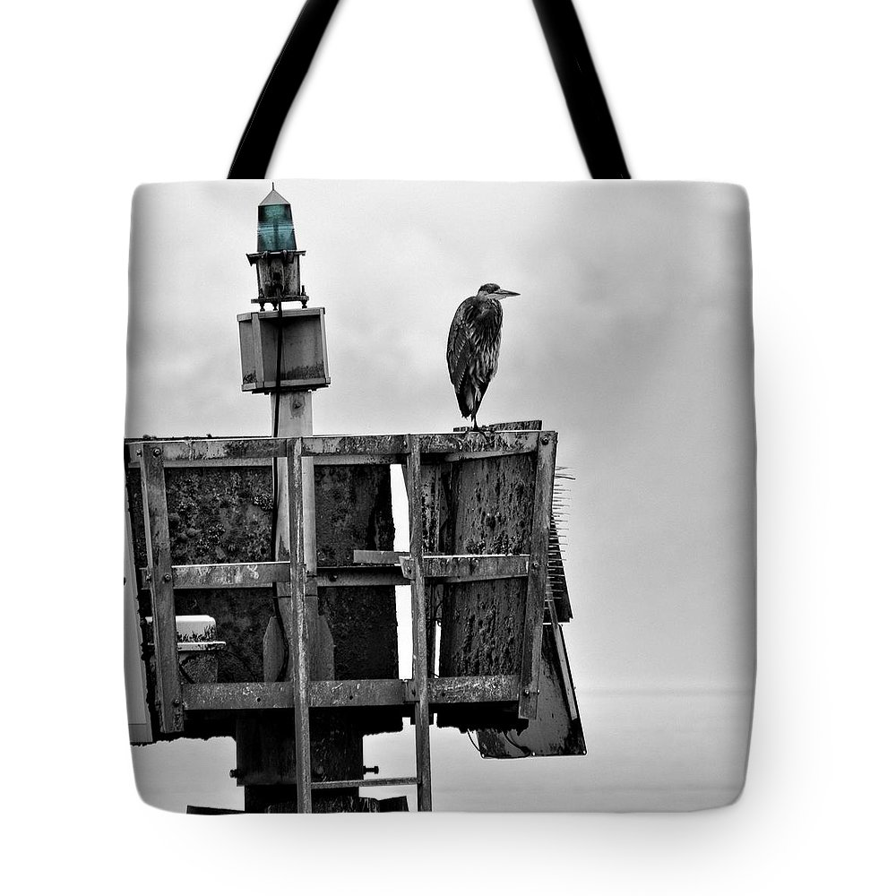 Astoria Tote Bag featuring the photograph The Green Light by Image Takers Photography LLC