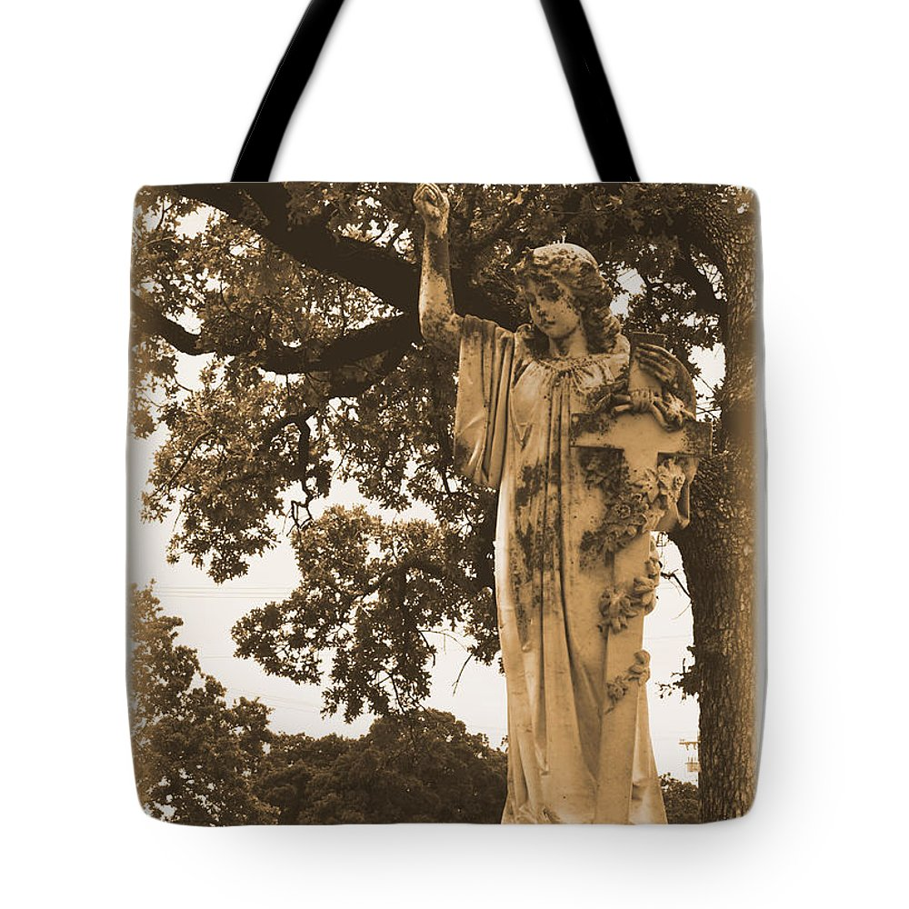 Angel Tote Bag featuring the photograph The Guide by Nadalyn Larsen