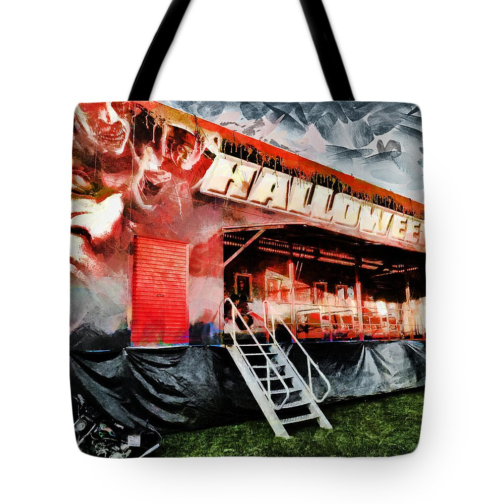 Halloween Tote Bag featuring the photograph The Halloween Ride by Steve Taylor