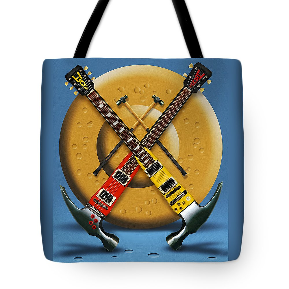 Rock And Roll Tote Bag featuring the photograph The Hammer by Mike McGlothlen