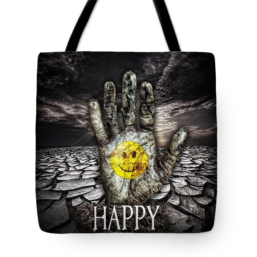 The Hand Tote Bag featuring the digital art The Hand by Mo T