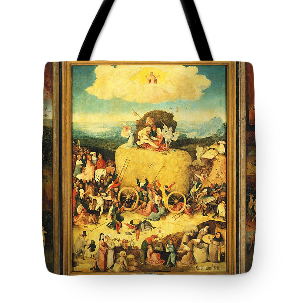 fb7e61a7d8b Hieronymus Bosch Tote Bag featuring the painting The Haywain Triptych by Hieronymus  Bosch