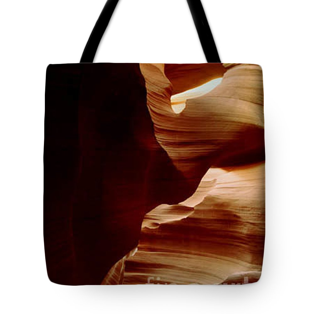 Landscape Tote Bag featuring the photograph The Heart Of Antelope Canyon by Kathy McClure