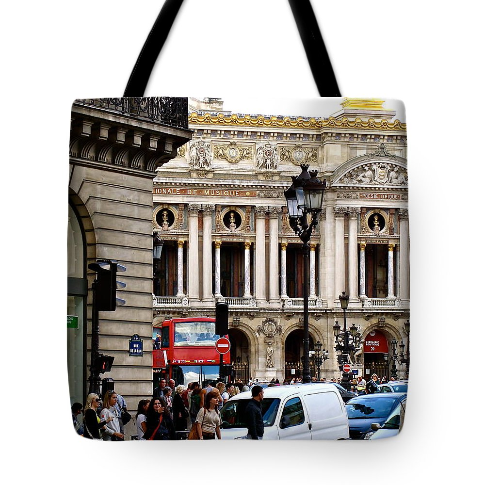 Paris Opera Tote Bag featuring the photograph The Heart Of Paris by Ira Shander
