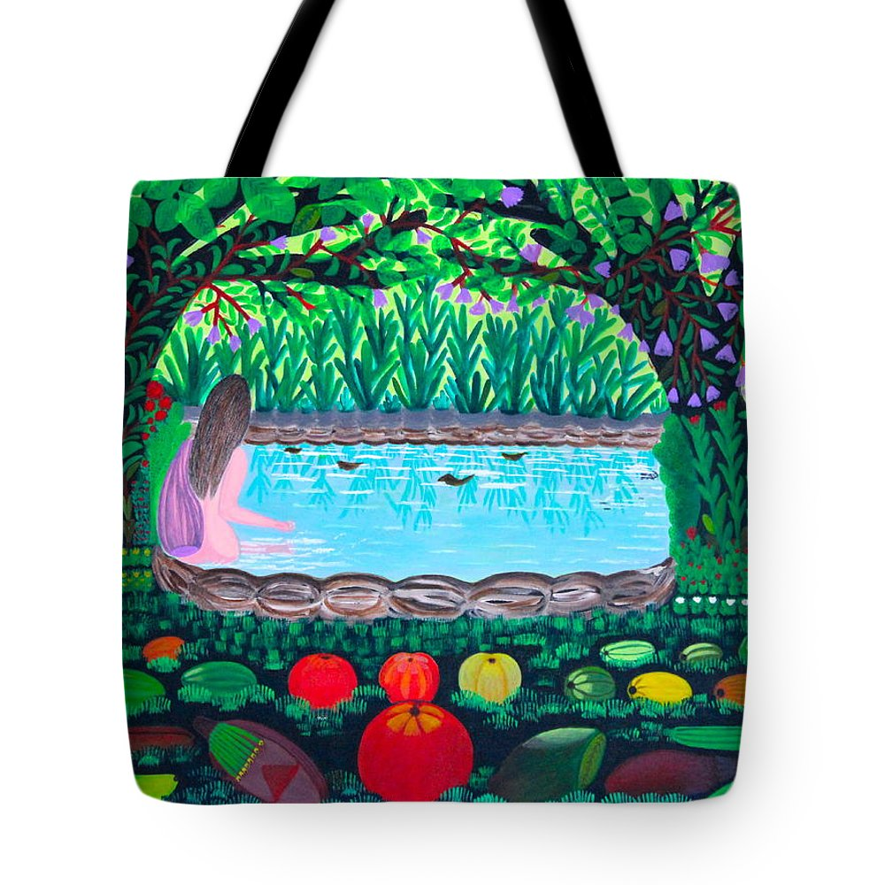 People Tote Bag featuring the painting The Hidden Water by Lorna Maza