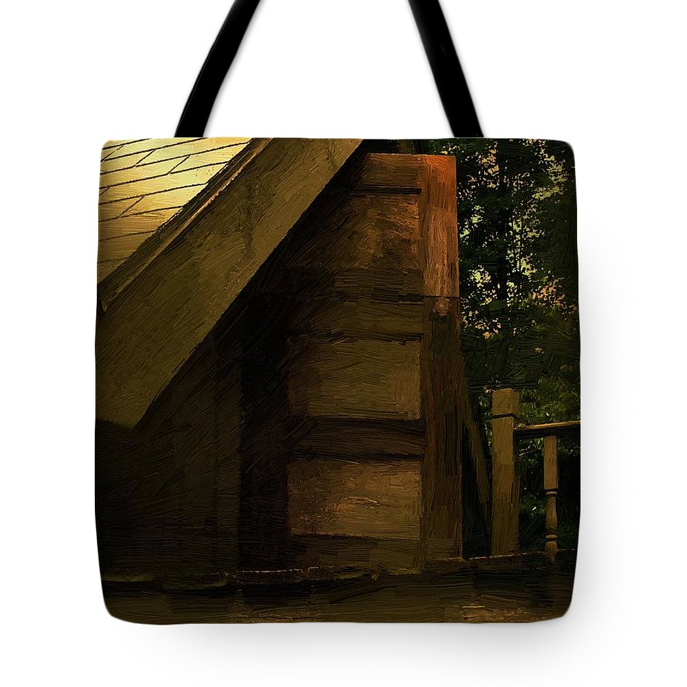 Tree House Tote Bag featuring the painting The Hideaway by RC DeWinter