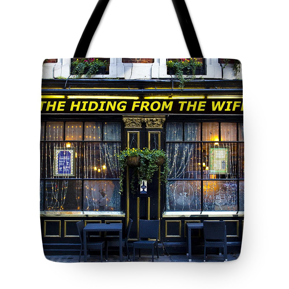 Wife Tote Bag featuring the photograph The Hiding From The Wife Pub by David Pyatt