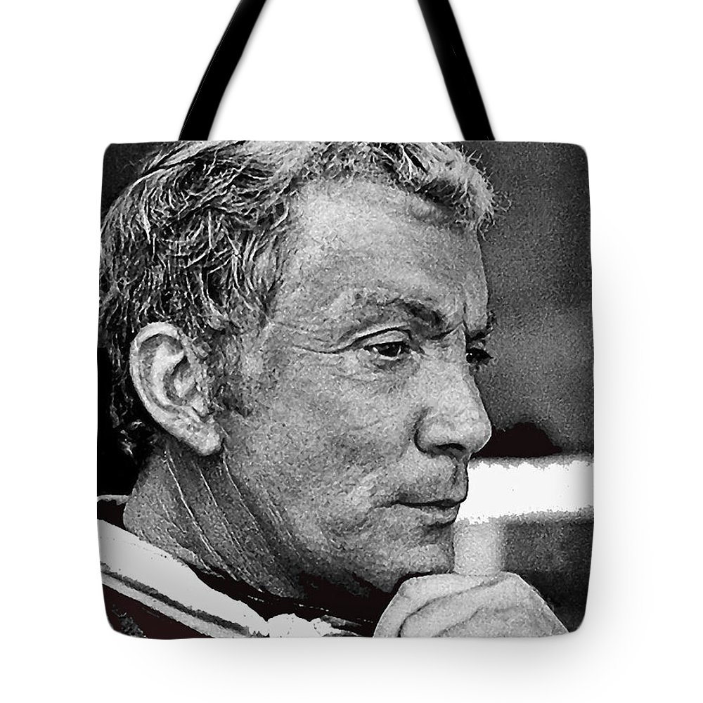 The High Chaparral Cameron Mitchell Publicity Photo Number 2 Color Added Tote Bag featuring the photograph The High Chaparral Cameron Mitchell Publicity Photo Number 2 by David Lee Guss