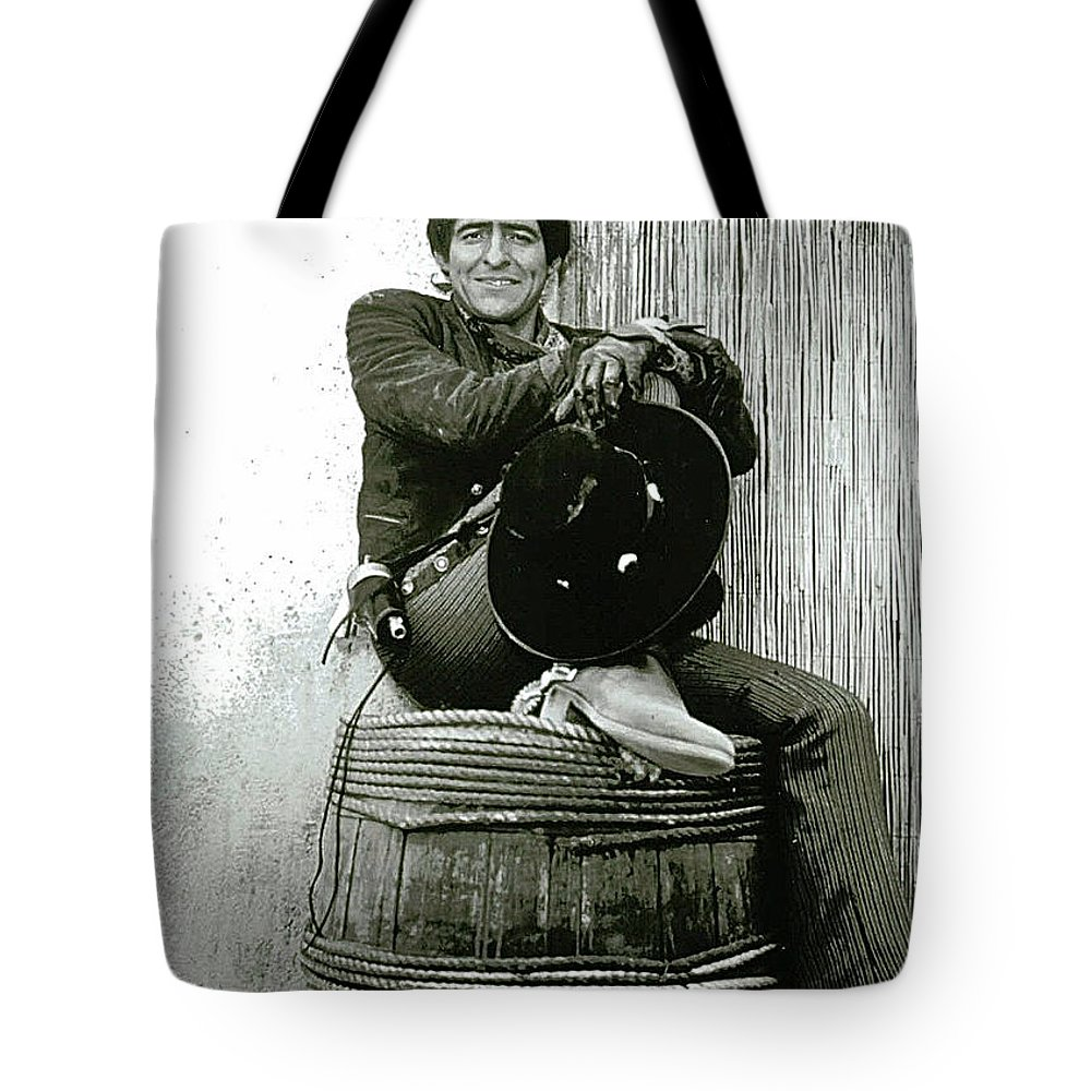 The High Chaparral Henry Darrow Publicity Photo Number 3 Tote Bag featuring the photograph The High Chaparral Henry Darrow Publicity Photo Number 3 by David Lee Guss