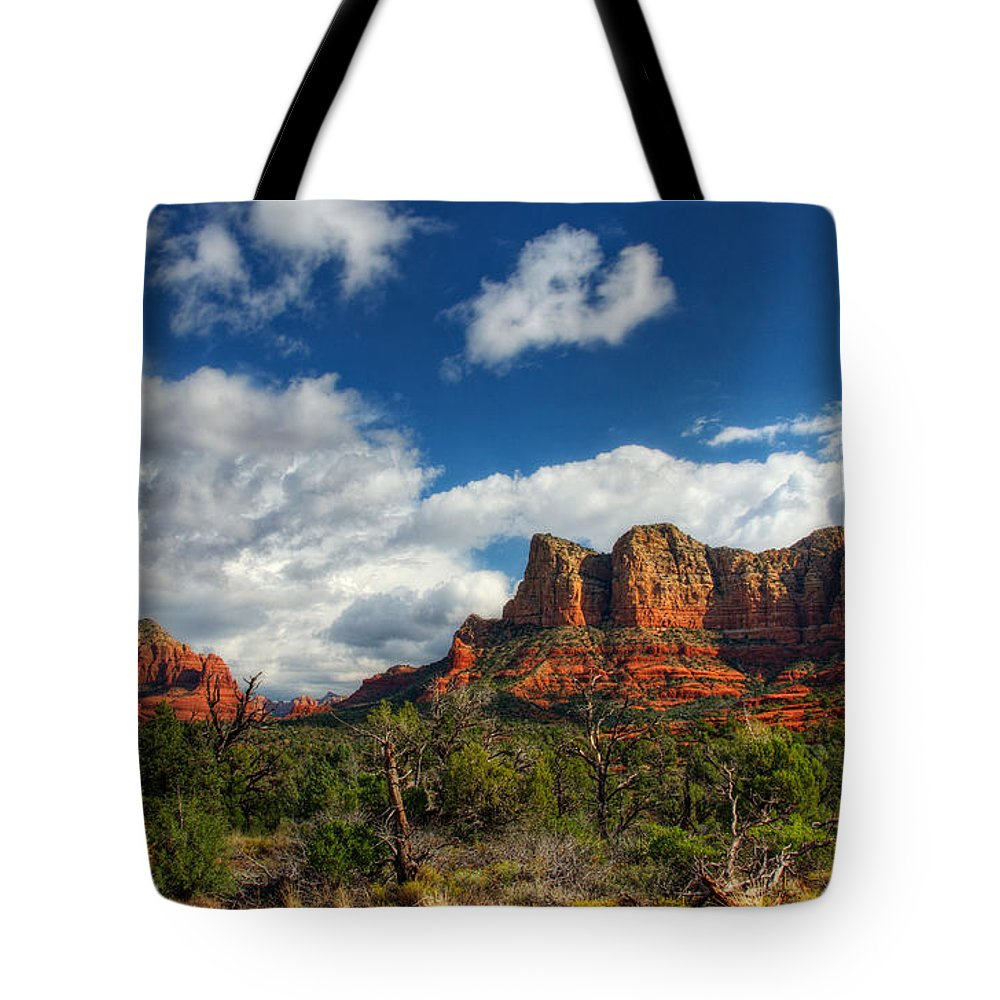Sedona Tote Bag featuring the photograph The Hills Of Sedona by Saija Lehtonen