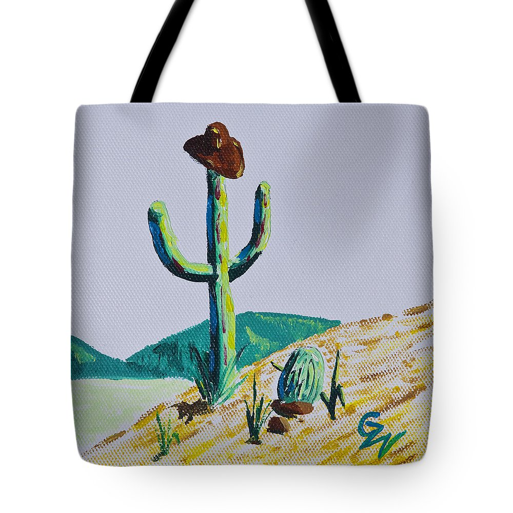 Art - Paintings Etc Tote Bag featuring the painting the Hold Up by Greg Wells