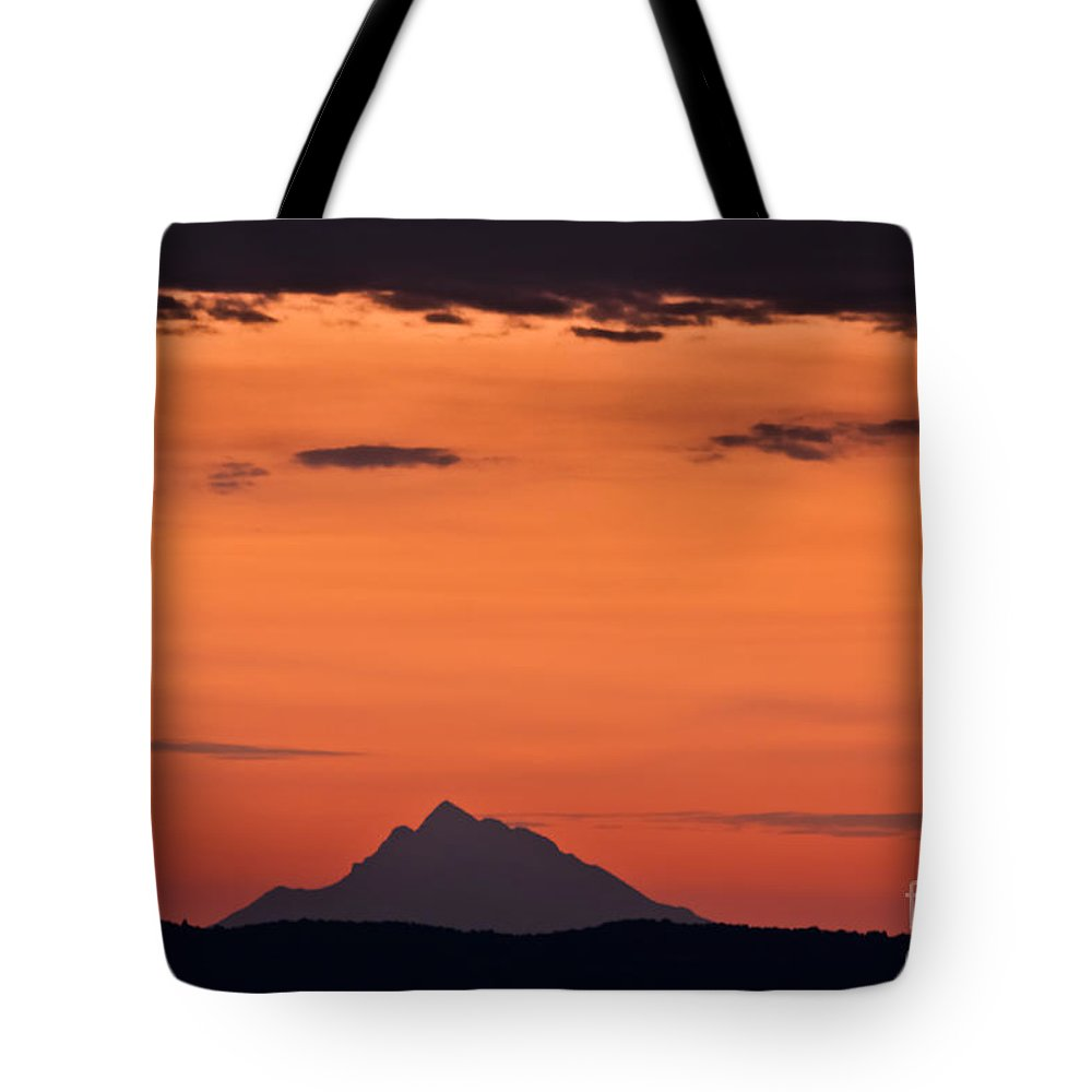 Landscape Tote Bag featuring the photograph The Holy Mountain by Kamen Ruskov