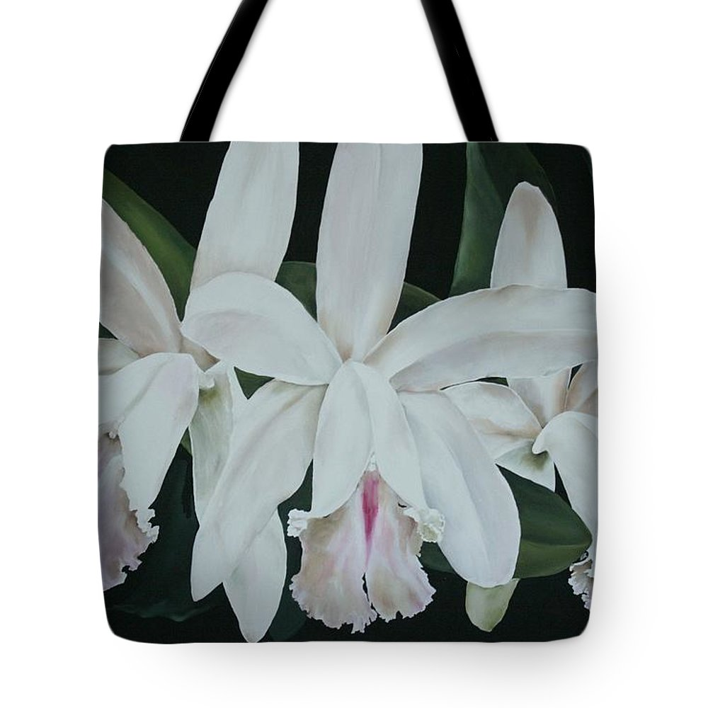 Tropical Tote Bag featuring the painting The Holy Trinity by Dee Mccluskey