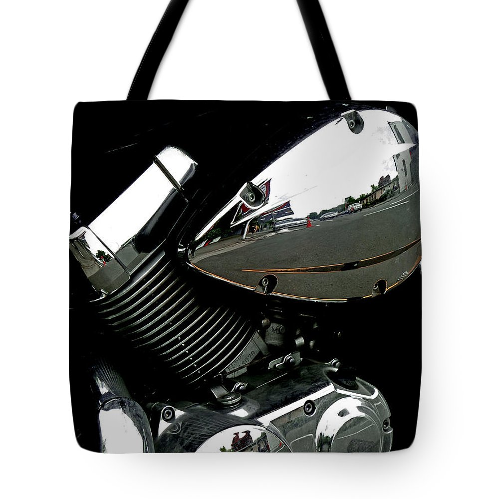 Reflection Tote Bag featuring the photograph The Honda's Shadow by Steve Taylor