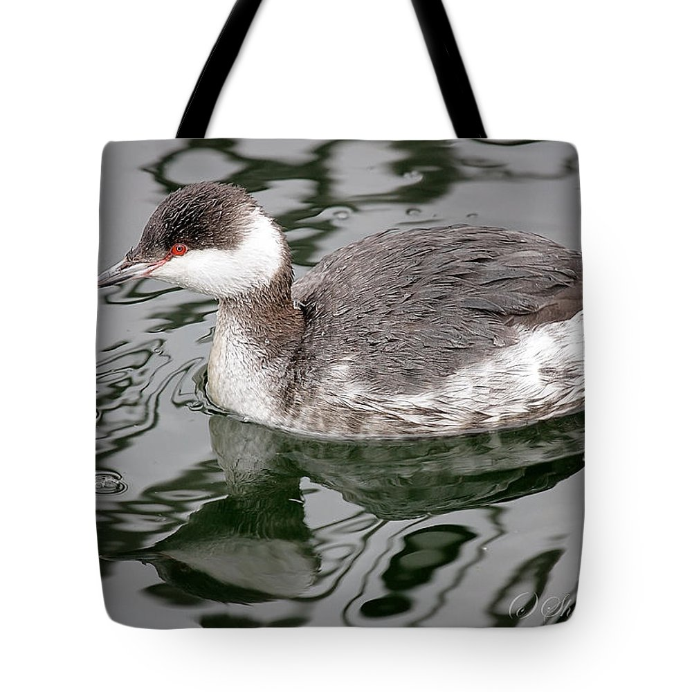 Maine Wildlife Tote Bag featuring the photograph The Horned Grebe by Sharon Fiedler