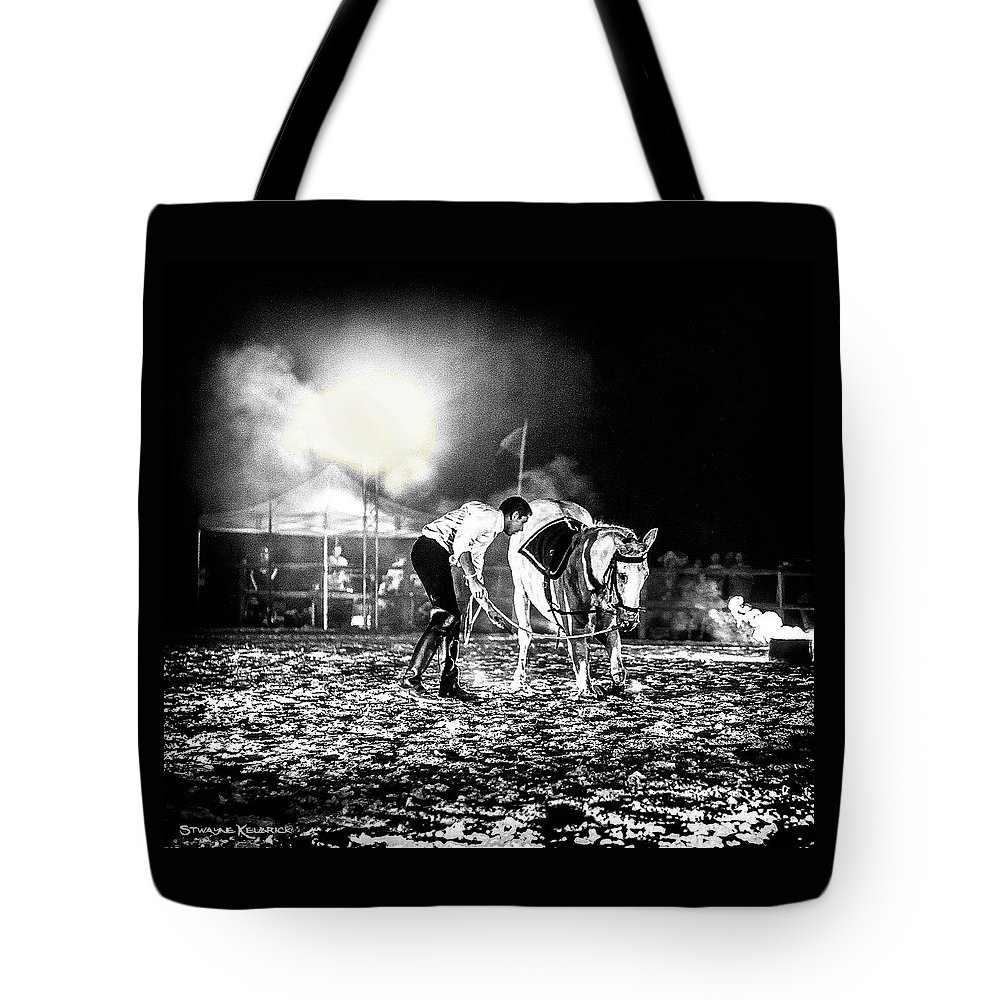 Horse Tote Bag featuring the photograph The Horse That Suffered by Stwayne Keubrick