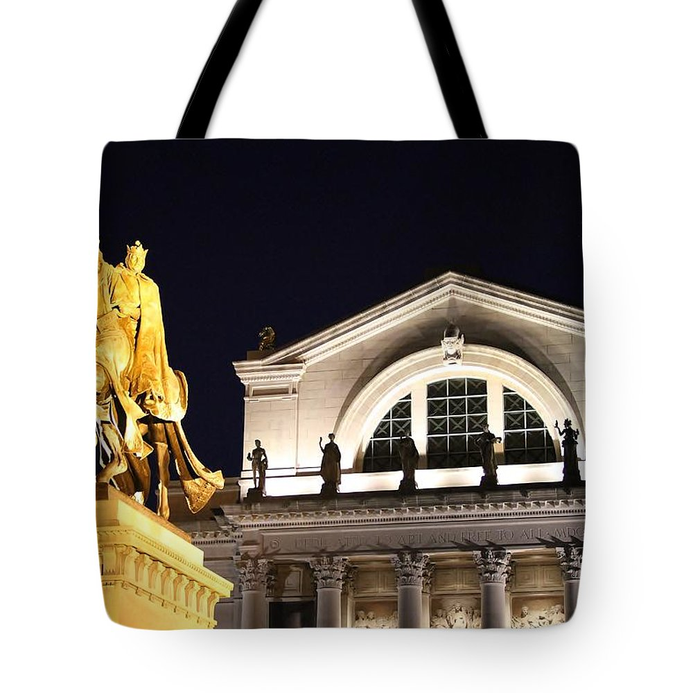 Saint Louis Tote Bag featuring the photograph The Illumination Of Saint Louis Ix by Christopher Miles Carter