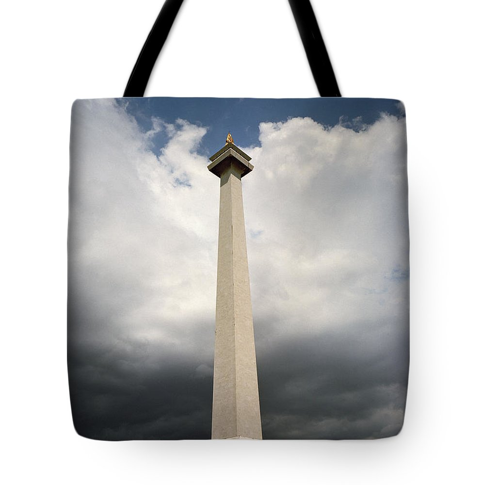 Modern Tote Bag featuring the photograph The Independence Monument by Shaun Higson