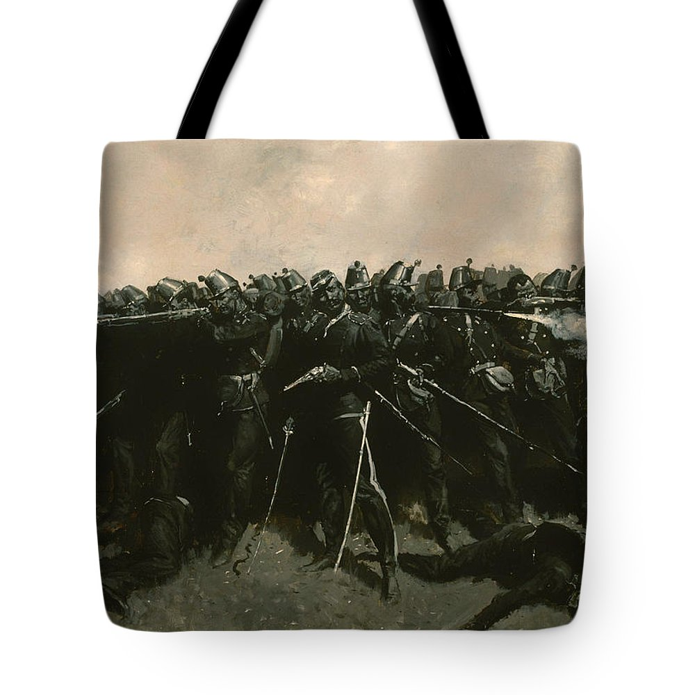 Painting Tote Bag featuring the painting The Infantry Square by Mountain Dreams