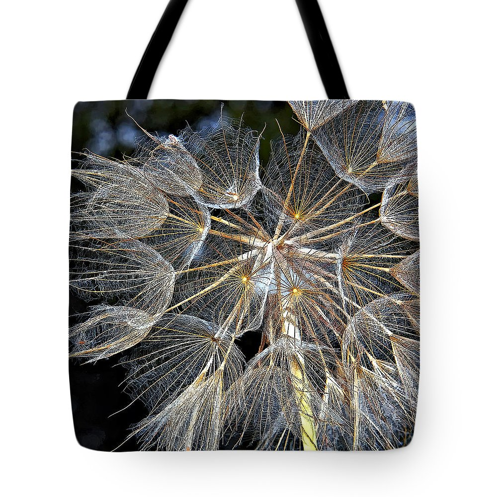 Weed Tote Bag featuring the photograph The Inner Weed Paint by Steve Harrington