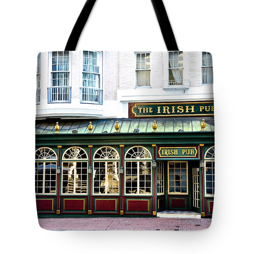 Irish Tote Bag featuring the photograph The Irish Pub - Philadelphia by Bill Cannon