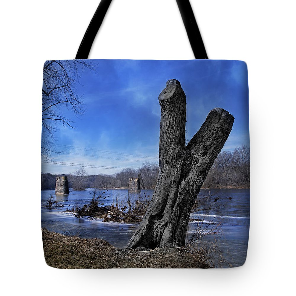 The Tote Bag featuring the photograph The James River One by Betsy Knapp
