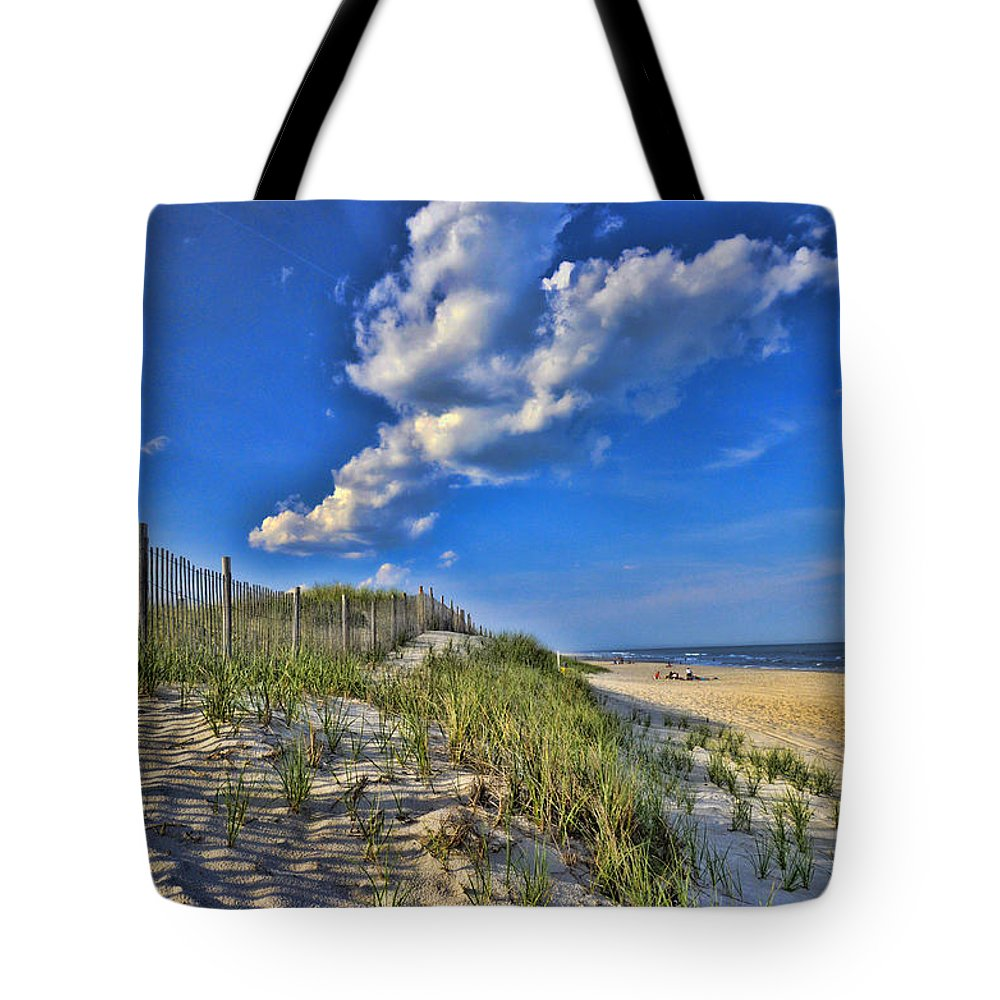 Jersey Shore Tote Bag featuring the photograph The Jersey Shore by Allen Beatty