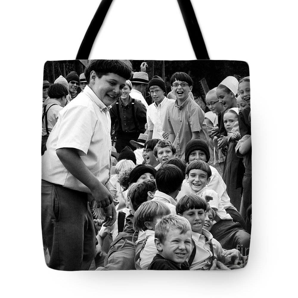 Amish Tote Bag featuring the photograph The Joys Of Youth by Tina M Wenger
